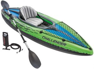 Intex Challenger K1 Kayak, 1-person Inflatable Kayak Set With Aluminium Oars And High Output Air Pump