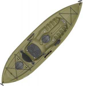 Lifetime Tamarack Angler Sit-on-top Kayak, Olive, 120