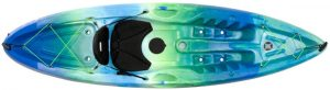 Perception Tribe 9.5 Sit On Top Kayak For All-around Fun Large Rear Storage With Tie Downs 9 5