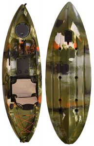Vanhunks Manatee 9ft Single Fishing Kayak - Jungle Green