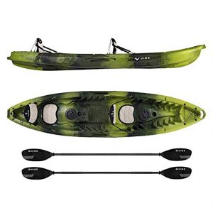Vibe Kayaks Skipjack 120T Two Person Sit On Top Fishing Kayak
