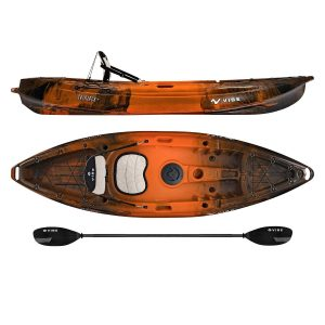 Vibe Kayaks Skipjack 90 9 Foot Angler and Recreational Sit On Top LightWeight Fishing Kayak