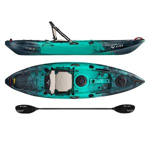 Vibe Kayaks Yellowfin 100 10 Foot Angler Recreational Sit On Top LightWeight Fishing Kayak